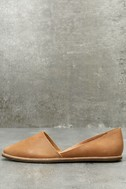 Chelsea Crew Vance Tan Leather Flats 1