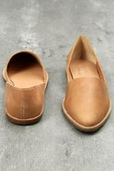 Chelsea Crew Vance Tan Leather Flats 4