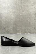 Chelsea Crew Vance Black Leather Flats 2
