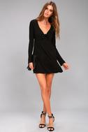 Lucy Love Kelly Taylor Black Long Sleeve Knot Dress 2