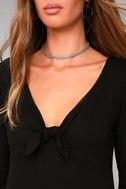 Lucy Love Kelly Taylor Black Long Sleeve Knot Dress 4