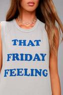 Junk Food Friday Feeling Grey Muscle Tee 5