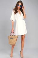 Sunday Sun White Wrap Dress 4