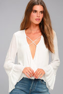 Ryland White Long Sleeve Top 1