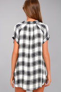 Here We Go Black Plaid Button-Up Top 3