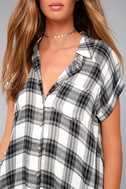 Here We Go Black Plaid Button-Up Top 4