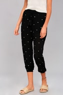 Lots of Luck Black Embroidered Pants 2
