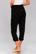 Lots of Luck Black Embroidered Pants 3
