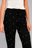 Lots of Luck Black Embroidered Pants 4