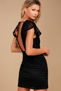 J.O.A. Everlasting Allure Black Lace Bodycon Dress 3