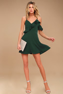 J.O.A. Henriette Forest Green Skater Dress 2
