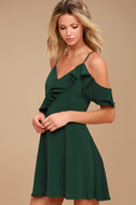 J.O.A. Henriette Forest Green Skater Dress 4