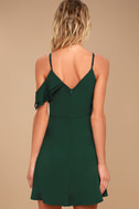 J.O.A. Henriette Forest Green Skater Dress 5