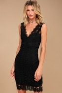 Spread your Wings Black Lace Midi Dress 1