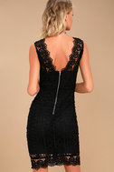 Spread your Wings Black Lace Midi Dress 3
