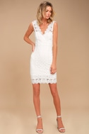 Spread your Wings White Lace Midi Dress 2