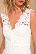 Spread your Wings White Lace Midi Dress 4