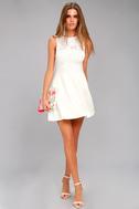 Doily Darling White Lace Skater Dress 3