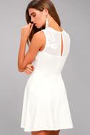 Doily Darling White Lace Skater Dress 5