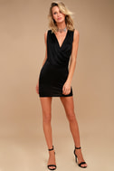 New Rules Black Satin Sleeveless Bodycon Dress 2