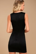 New Rules Black Satin Sleeveless Bodycon Dress 3