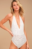 Free People Avery White Lace Bodysuit 3