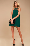 Tell Me Forest Green Swing Dress 1
