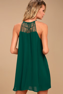 Tell Me Forest Green Swing Dress 3