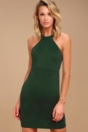 Endlessly Alluring Forest Green Lace Bodycon Dress 2