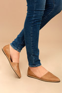 Chelsea Crew Vance Tan Leather Flats 2