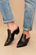 Sbicca Mulah Pewter Leather Pointed Toe Mules 5