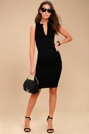 Hopes and Dreams Black Sleeveless Midi Dress 1