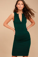Hopes and Dreams Forest Green Sleeveless Midi Dress 3