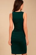 Hopes and Dreams Forest Green Sleeveless Midi Dress 4