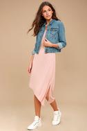 Olive & Oak Penelope Blush Pink Sleeveless Midi Dress 1