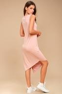 Olive & Oak Penelope Blush Pink Sleeveless Midi Dress 2