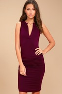 Hopes and Dreams Burgundy Sleeveless Bodycon Midi Dress 1