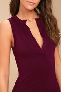 Hopes and Dreams Burgundy Sleeveless Bodycon Midi Dress 4