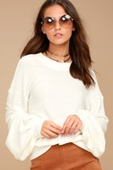 Free People TGIF White Sweatshirt 5