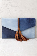 Patch Things Up Blue Denim Clutch 2