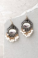 Luxe Looks Gold and Pearl Earrings 2