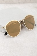 Ultra Babe Gold Sunglasses 2