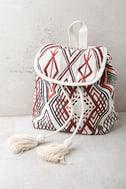 Billabong Soul Bound Cream Embroidered Backpack 2
