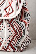 Billabong Soul Bound Cream Embroidered Backpack 3
