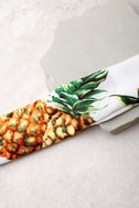 Tropical Punch White Pineapple Print Bandana 3