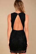 Party Pick Me Up Black Lace Backless Bodycon Dress 4