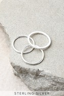 Croatian Crush Sterling Silver Ring Set 2