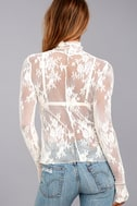 Free People Sweet Secrets White Lace Turtleneck Top 4