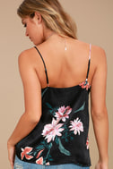 Fleurs Things First Black Floral Print Tank Top 3