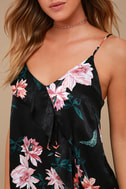 Fleurs Things First Black Floral Print Tank Top 4